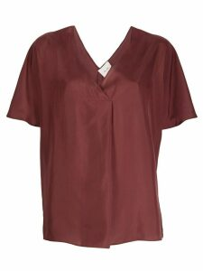 Alysi short-sleeved silk blouse - Brown