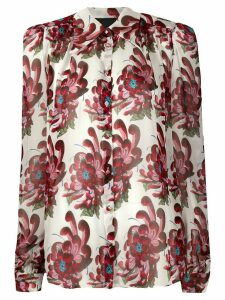 John Richmond silk floral blouse - White