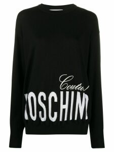 Moschino printed logo sweatshirt - Black