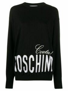 Moschino printed logo sweatshirt - Black