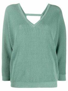 Peserico Maglia v-neck jumper - Green