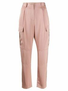 Calvin Klein side pockets high waisted trousers - PINK