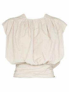 Lemaire draped front blouse - NEUTRALS