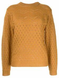 Karen Walker open knit jumper - Yellow