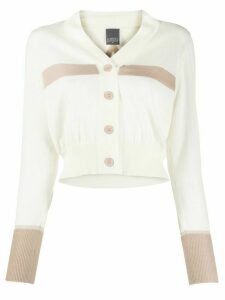 Lorena Antoniazzi colour block cropped cardigan - NEUTRALS