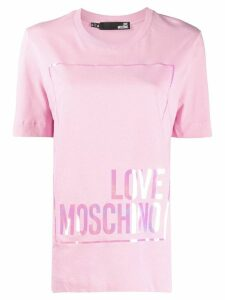 Love Moschino logo print short-sleeve T-shirt - PINK