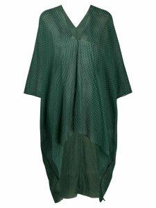 Dolci Follie printed V-neck kaftan - Green