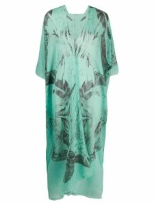 Dolci Follie seagull-print beach kaftan - Blue