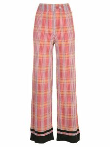 M Missoni checked wide-leg trousers - Red