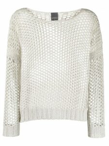 Lorena Antoniazzi open knit jumper - NEUTRALS