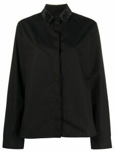 Haider Ackermann gemstone collar buttoned shirt - Black