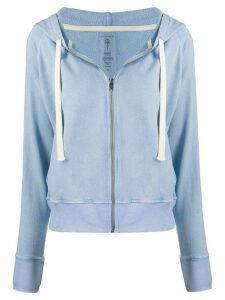 ELECTRIC & ROSE terry zip front hoodie - Blue