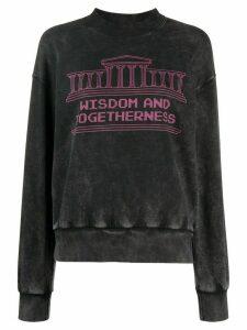 Aries slogan print sweatshirt - Grey