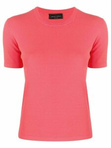 Roberto Collina fine knit shortsleeved top - PINK