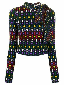 Alice+Olivia geometric fitted jumper - Black