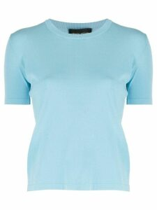 Roberto Collina fine knit shortsleeved top - Blue