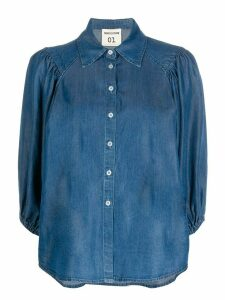 Semicouture 3/4 sleeve denim shirt - Blue