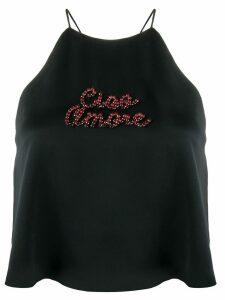 Giada Benincasa Ciao Amore cropped tank top - Black