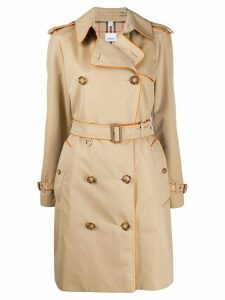 Burberry piped trim trench coat - Brown