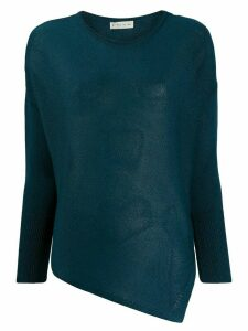 Etro asymmetric hem jumper - Blue