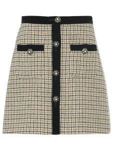 Miu Miu houndstooth check skirt - NEUTRALS