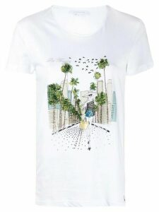 Patrizia Pepe embellished LA T-shirt - White