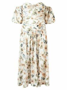 BEC + BRIDGE Fleuette floral-print midi dress - White