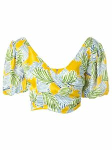 BEC + BRIDGE Palm Paradise silk top - Yellow