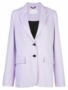 Proenza Schouler White Label contrast buttons single breasted blazer -