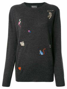 Markus Lupfer animal embroidered jumper - Black