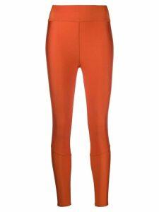 Moncler branded waistband leggings - ORANGE