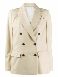 Brunello Cucinelli double breasted longline blazer - NEUTRALS
