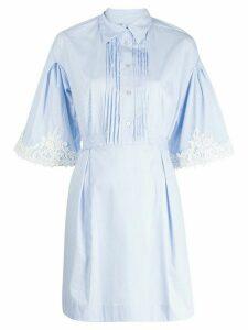 Blumarine striped lace dress - White