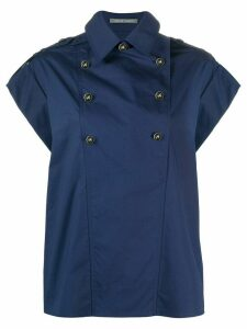 Alberta Ferretti double-breasted wide-sleeves shirt - Blue