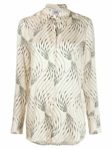 Victoria Victoria Beckham long sleeve abstract print shirt - NEUTRALS
