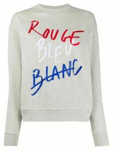 Être Cécile Rouge Bleu Blanc Boyfriend Sweatshirt - Grey