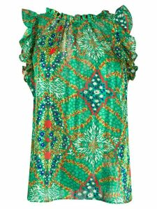Ba & Sh Haby floral-print blouse - Green