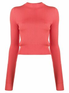 Victoria Victoria Beckham cropped long sleeve jumper - PINK