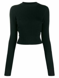 Victoria Victoria Beckham cropped long sleeve jumper - Blue