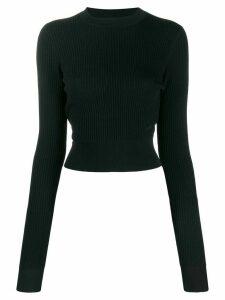 Victoria Victoria Beckham cropped long sleeve jumper - Blue