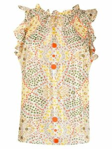 Ba & Sh Haby floral print blouse - NEUTRALS