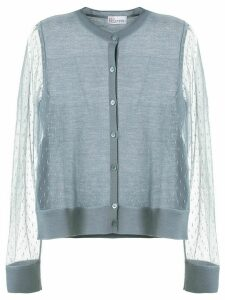 RedValentino point d'esprit cardigan - Blue