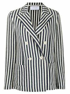 Harris Wharf London double-breasted striped blazer - NEUTRALS