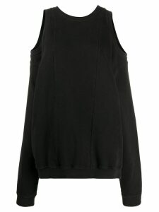 Maison Margiela cold-shoulder sweatshirt - Black