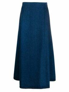 Mm6 Maison Margiela long A-line denim skirt - Blue