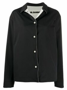 Jil Sander point-collar boxy jacket - Blue