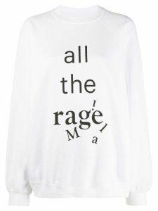 Maison Margiela All the Rage crewneck sweatshirt - White