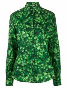 Dolce & Gabbana clover button-up shirt - Green