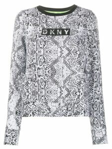DKNY snakeskin-print logo sweatshirt - White