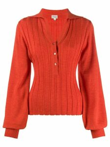 Temperley London ribbed knit cardigan - ORANGE